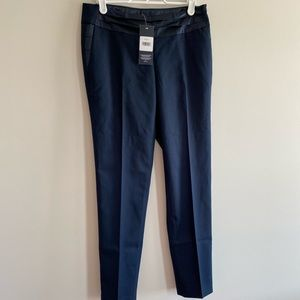 NWT Tommy Hilfiger navy Pants with Satin details